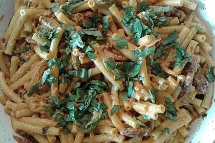 Pasta mit Chorizo - Zwiebel - Sauce 39