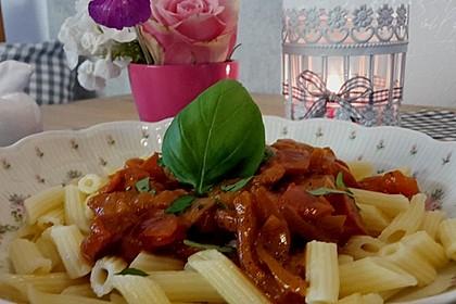 Pasta mit Chorizo - Zwiebel - Sauce 22