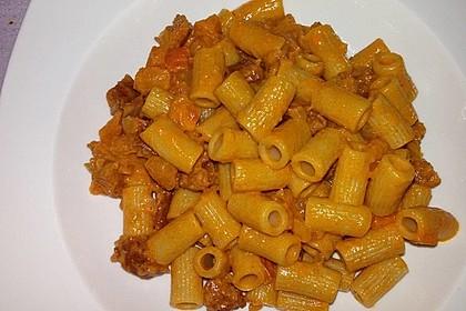 Pasta mit Chorizo - Zwiebel - Sauce 42