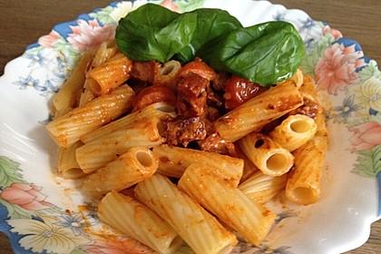 Pasta mit Chorizo - Zwiebel - Sauce 34