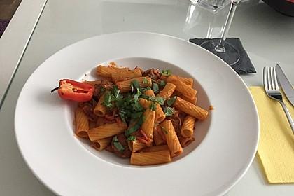 Pasta mit Chorizo - Zwiebel - Sauce 27