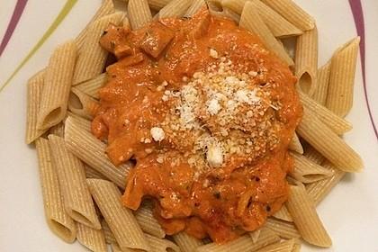 Pasta mit Chorizo - Zwiebel - Sauce 46