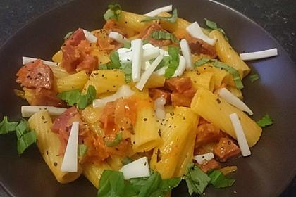 Pasta mit Chorizo - Zwiebel - Sauce 28