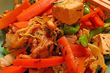 Chinakohl - Tofu - Pfanne