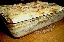 Tomaten - Lauch - Lasagne mit Hackfleisch
