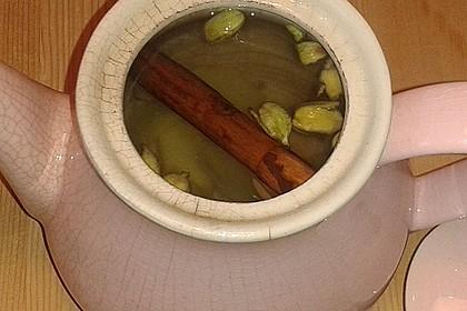 Ingwer - Zimt - Kardamom - Tee mit Milch und Honig 9