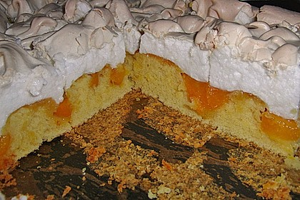 Aprikosen - Apfelschnitten mit Baiser