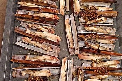 Schwertmuscheln vom Grill 1