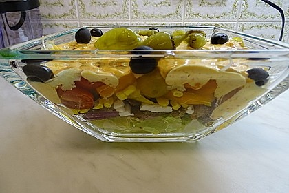 Daphnes schlanker Gyros - Schichtsalat 10