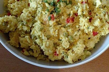 Curry - Reissalat mit Hühnchen 5