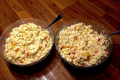 Curry - Reissalat mit Hühnchen 4