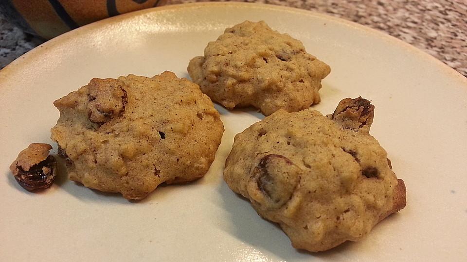 rosinen haferflocken cookies a la m usle rezept mit bild. Black Bedroom Furniture Sets. Home Design Ideas