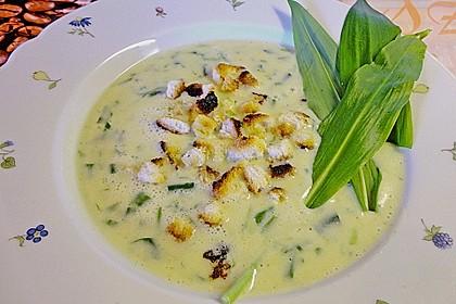 Bärlauch - Sahnesuppe mit Croutons 17