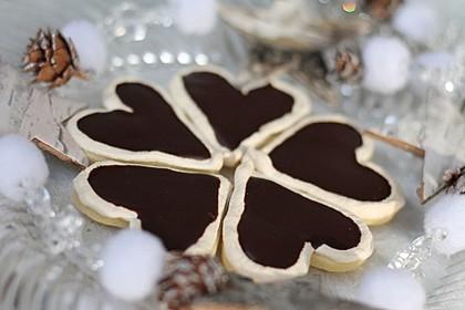 Herz - Choco - Plätzchen (Bild)