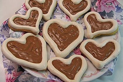 Herz - Choco - Plätzchen