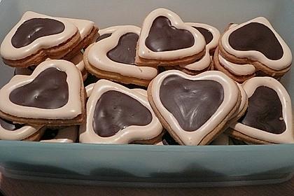 Herz - Choco - Plätzchen 1