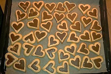 Herz - Choco - Plätzchen 5