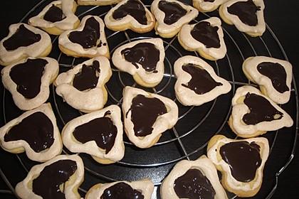 Herz - Choco - Plätzchen 18