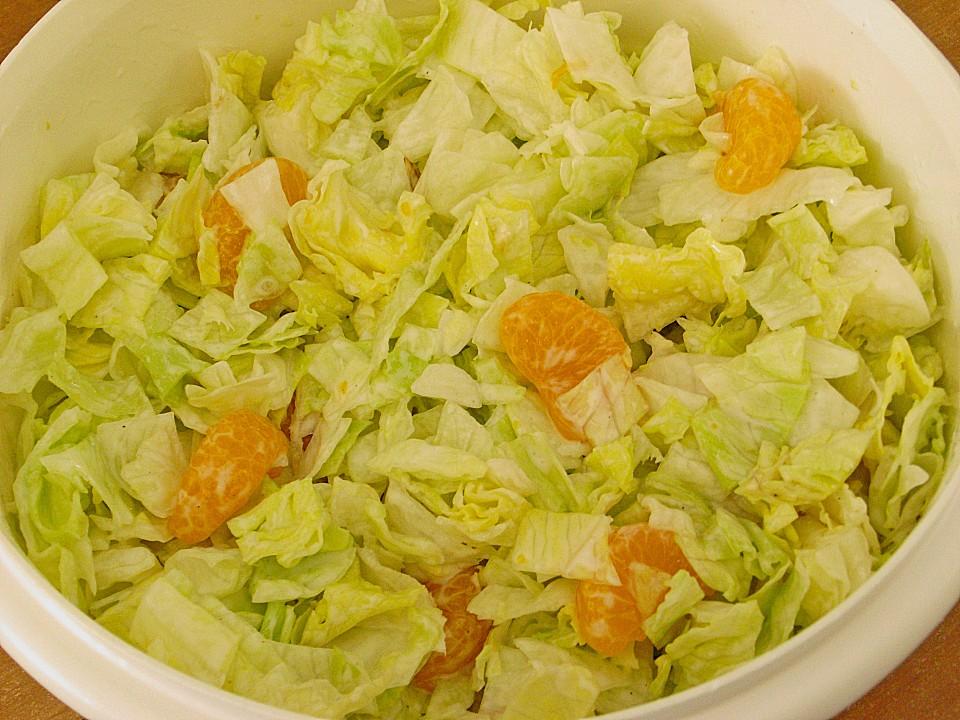 Salat mit mandarinen dressing