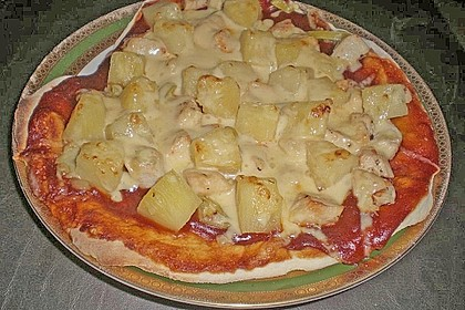Ananas - Hühnchen - Pizza