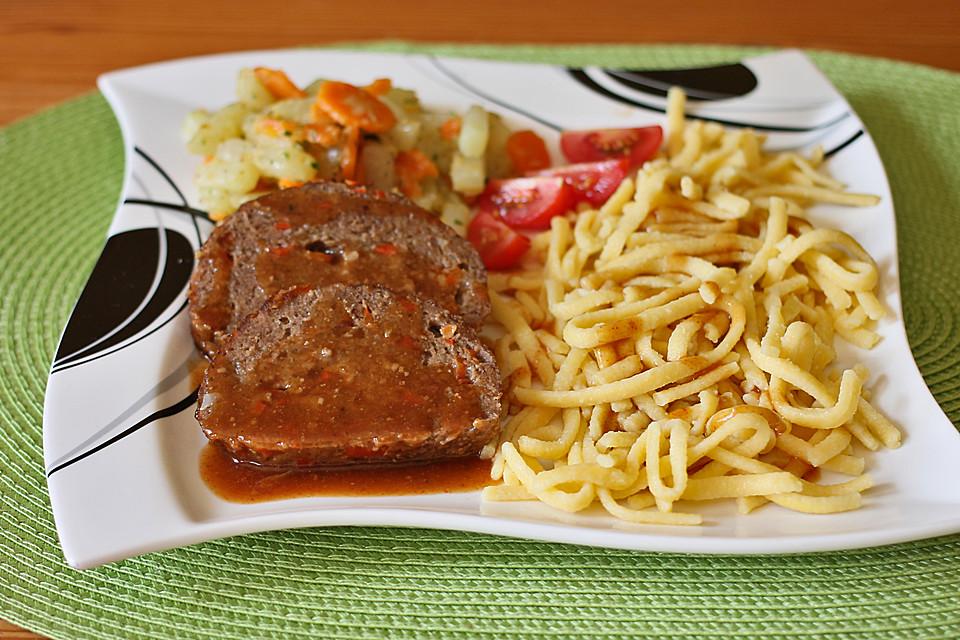 hackbraten mit sauce rezept mit bild von crazy86
