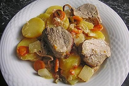 Lungenbraten mit Gemüse aus dem Ofen 1