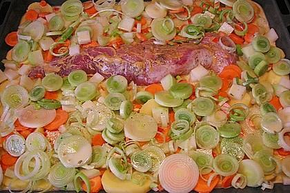 Lungenbraten mit Gemüse aus dem Ofen 3