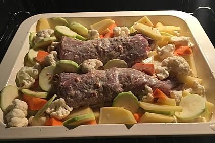 Lungenbraten mit Gemüse aus dem Ofen 2