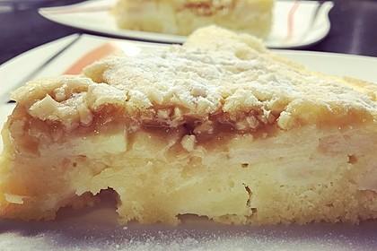 Apfelkuchen mit  Walnuss - Karamell 4