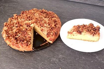 Apfelkuchen mit  Walnuss - Karamell 2