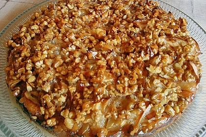 Apfelkuchen mit  Walnuss - Karamell 6