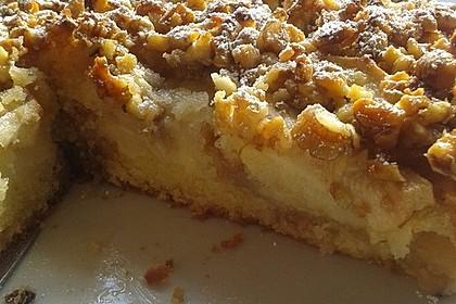 Apfelkuchen mit  Walnuss - Karamell 5