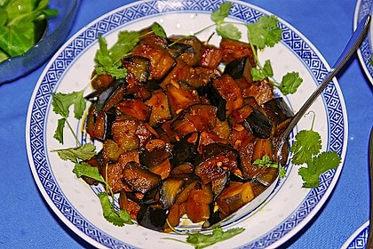 Auberginen Stir Fry