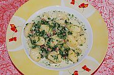 Gnocchi mit Spinat - Karotten - Schinken - Sahnesauce