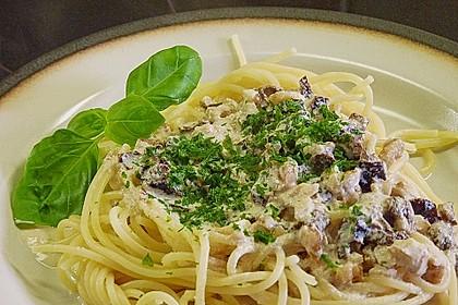 Spaghetti mit Walnuss-Käse Sauce 1