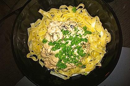 Spaghetti mit Walnuss-Käse Sauce 4
