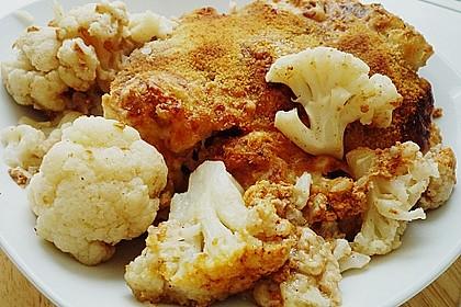 Blumenkohl mit Butterbröseln und Käse überbacken 1
