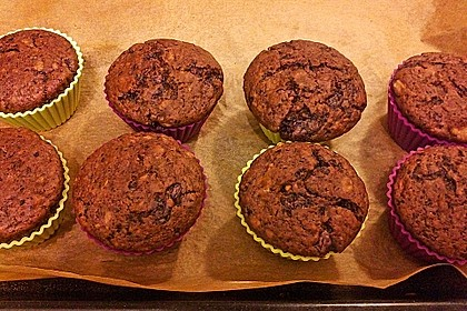 Saftige Schoko - Bananen - Muffins 21