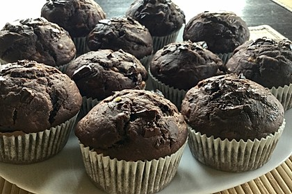 Saftige Schoko - Bananen - Muffins 4