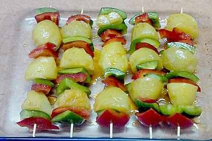 Kartoffel - Paprika – Spieße