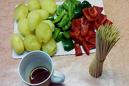 Kartoffel - Paprika – Spieße 1