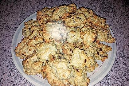 Kokoscookies mit Raspelschokolade 4