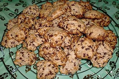 Kokoscookies mit Raspelschokolade 2