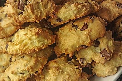 Kokoscookies mit Raspelschokolade 3