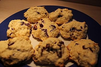 Kokoscookies mit Raspelschokolade