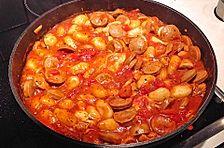 Gnocchi - Bratwürstchen - Topf