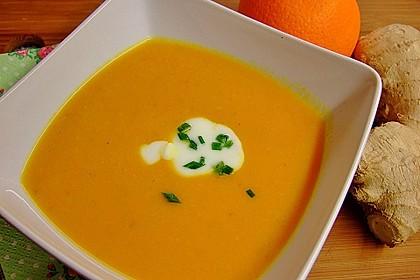 Karottensuppe mit Ingwer und Orange