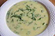 Kartoffelsuppe mit Blattspinat, eine herrlich cremige Suppe