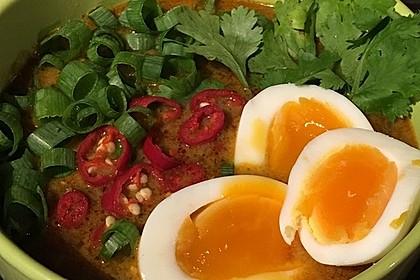 Pikante Thai Suppe mit Kokos und Hühnchen 8