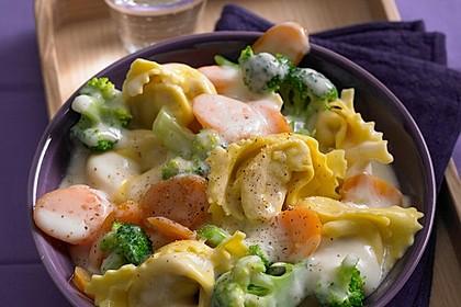 Tortelloni in Käse - Sahne - Sauce 6